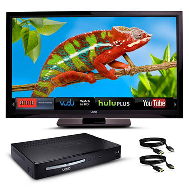 "32"" VIZIO VIA LCD 720p HDTV w/ Blu-ray Player and HDMI Cables Bundle"