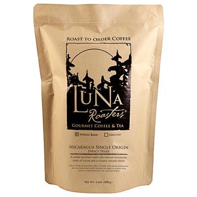 Luna Roasters® Nicaragua Direct Trade, Whole Bean, Artisan Roast Coffee (2lbs.)