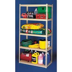 "Tennsco 84"" 5-Shelf Stur-D-Stor Industrial Strength Shelving Unit, Sand"