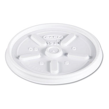 Dart Hot and Cold Foam Cup Plastic Lids, Vented, 12 oz. (1,000 ct.)