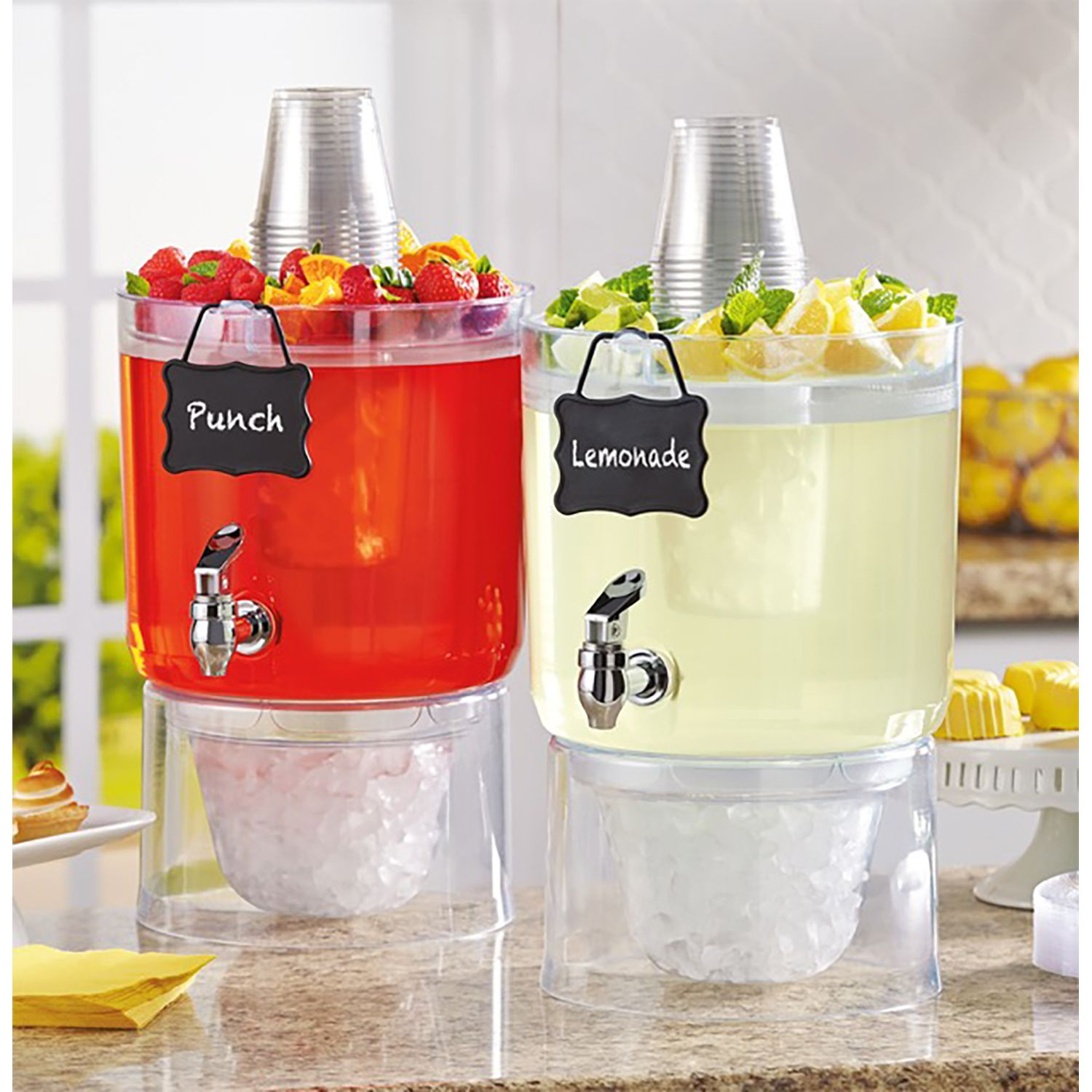 NEW Daily Chef 2 1.75 Gallon Stackable Beverage Dispensers w/ Stand Spigot Jug | eBay