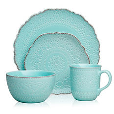 Pfaltzgraff Marseilles Stoneware Dinnerware 16-Piece Set - Assorted Colors