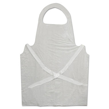 Boardwalk Disposable Apron - Polypropylene - White - 100 ct.