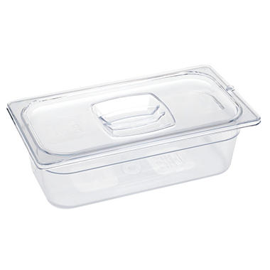 "Rubbermaid Commercial Cold Food Pans - 20 5/8 qt. - 20 4/5""W x 12 4/5""D x 6""H - Clear"