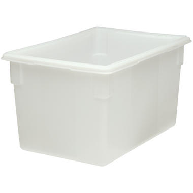 "Rubbermaid Commercial Food/Tote Box - 21.5 gal. - 26""W x 18""D x 15""H - White - 1 ct."
