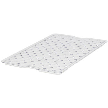 "Rubbermaid Commercial Drain Trays - 18""W x 12""D - Clear"