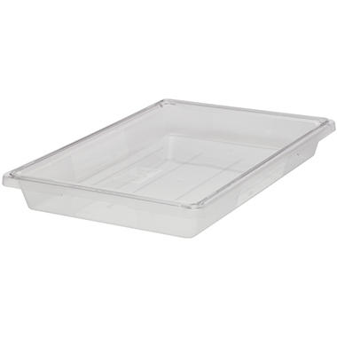 "Rubbermaid Commercial 5 Gallon Food/Tote Boxes - 26""W x 18""D x 3 1/2""H - Clear - 1 ct."