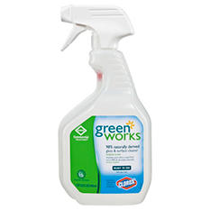 Green Works - Glass & Surface Cleaner, Original, 32oz Smart Tube Spray Bottle -  12/Carton