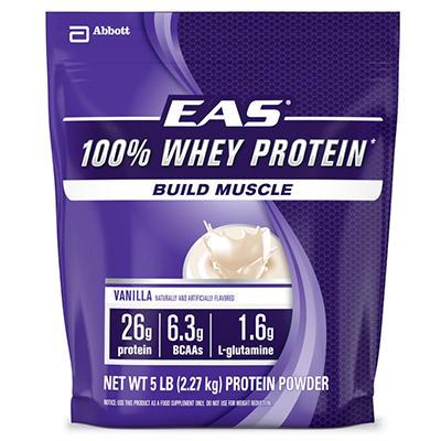 EAS 100% Whey Protein Powder, Vanilla (5 lbs.)