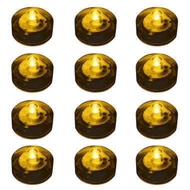 Water Proof LED Lights - Amber - 12 ct.