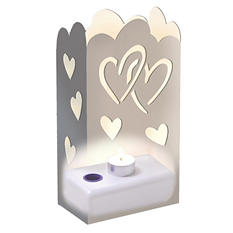 LumaLantern Luminaria Kit - Silver Hearts - 24 ct.