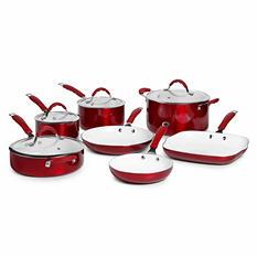 Bella Dots 11-Piece Aluminum Cookware Set