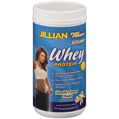 Pure Protein® Jillian Michaels Vanilla Cream Shake Whey Protein Powder - 1.8 lbs