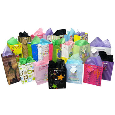 Gift Bag and Tissue Assortment - 24 ct.