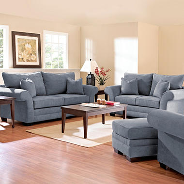 Willow Sofa Set - Blue - 4 pc.