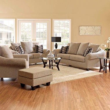 Chas Sofa Set - Graphite - 4 pc.