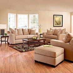Angel Sofa Set - Khaki - 4 pc.