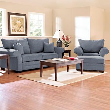 Willow Sofa Set - Blue - 3 pc.