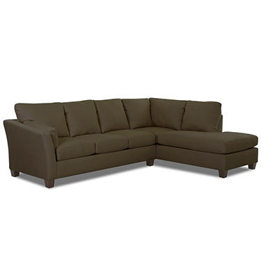 Andew Left Arm Facing Sectional - Thyme - 2 pc.