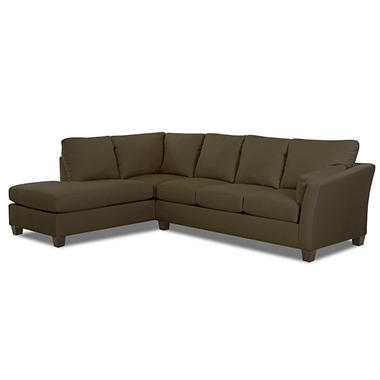 Andrew Right Arm Facing sectional - Thyme - 2 pc. .