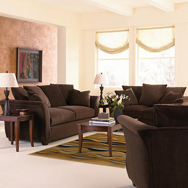Kara Sofa with Queen Sleeper - Chocolate - 4 pc.