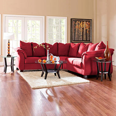 Beverly Sectional - Red - 2 pc.