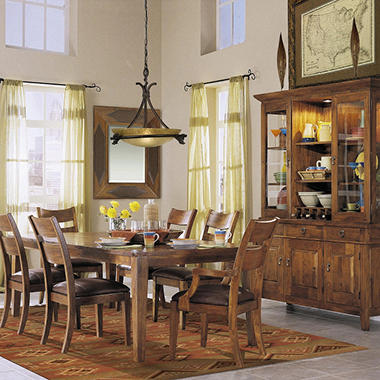 Nicholas Prestige Design Solid Mango Dining Set - 8 pc.