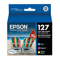 Epson 127  Extra High-Yield Ink, Combo (3 pk.)