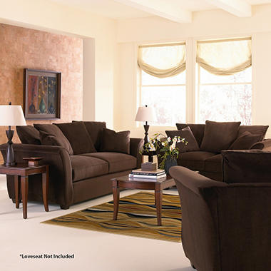 Kara Sofa Set - Chocolate - 3 pc.