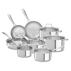 KitchenAid Stainless Steel 14-Piece Cookware Set - Assorted Colors