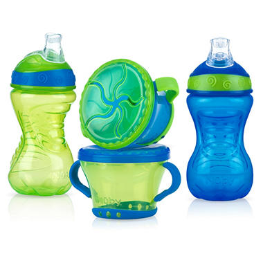 Nuby - Cup/Snack Set, Boy - 4 pc.