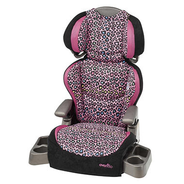Evenflo Big Kid LX Booster Seat - Neon Leopard