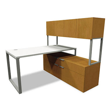 "HON Voi 60"" L-Station with Low Credenza"