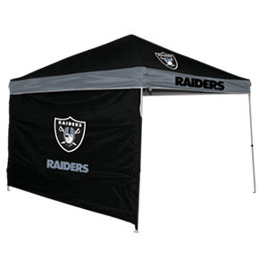 NFL Oakland Raiders 9' x 9' Canopy with Wall