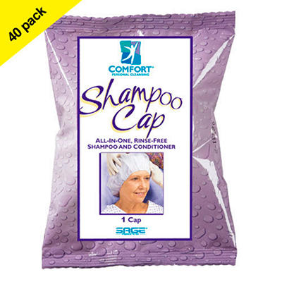 Comfort Rinse-Free Shampoo Cap - 40 pk.