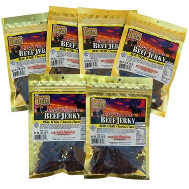 Jeff's Famous Orange-A-Peel Beef Jerky - 6/3 oz. bags