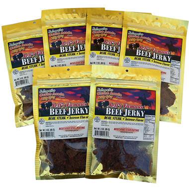 Jeff's Famous Jalapeno Carne Asada Beef Jerky - 3 oz. - 6 bags