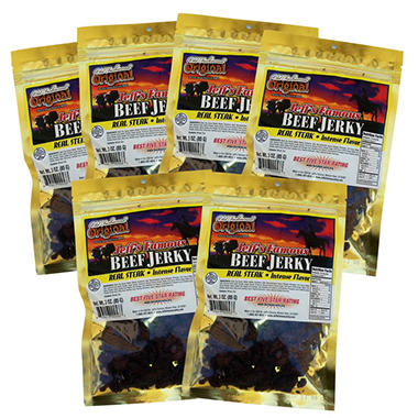 Jeff's Famous Old Fashioned Original Beef Jerky - 3 oz. - 6 bags
