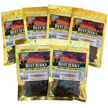 Jeff's Famous Black Pepper and Sea Salt Beef Jerky - 3 oz. - 6 bags