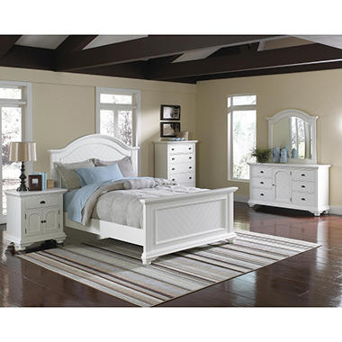 Addison White Bedroom Set Queen 4  BWQ4PC