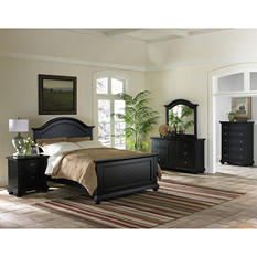 Addison Black Bedroom Set - Queen - 4 pc.