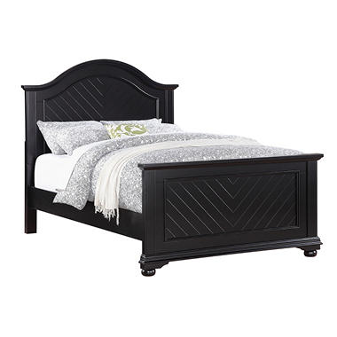 Addison Black Panel Bed - Full