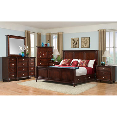 Gavin Bedroom Storage Bed Set - King - 6 pc.