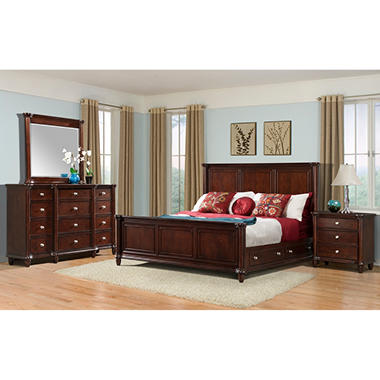 Gavin Bedroom Storage Bed Set - King - 4 pc.