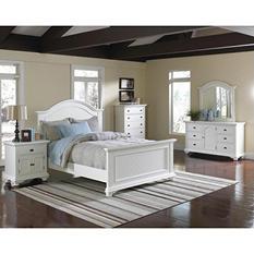 Addison White Bedroom Set - King - 6 pc.