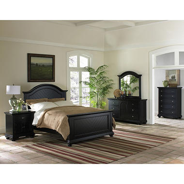 Addison Black Bedroom Set - King - 4 pc..