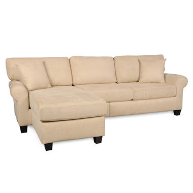 Sofa Smart Lad Rolled-Arm Sectional - Various Colors