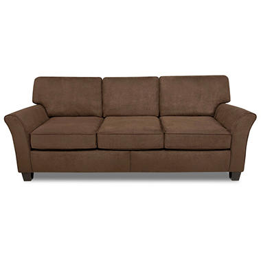 Lindsay Three Cushion Sofa - Chocolate