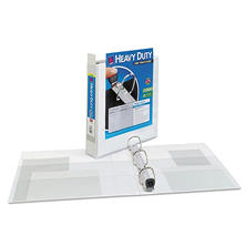 "Avery Heavy Duty View Binder with One Touch EZD Rings - 1 1/2"" Capacity - White - 4 ct."