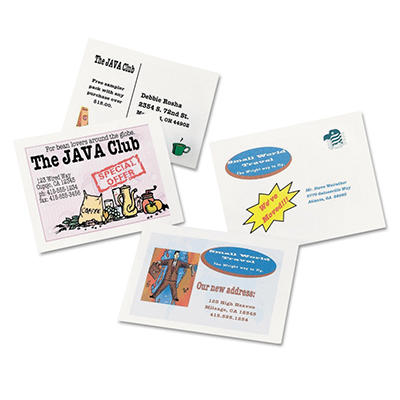 Avery Postcards for Inkjet Printers - White - 400 ct.